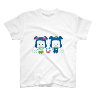 忍者犬たろうくん_フラダンス修行 T-shirts