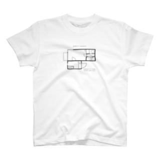 昔住んでたアパートの間取り T-shirts