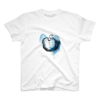 Blue apple T-shirts
