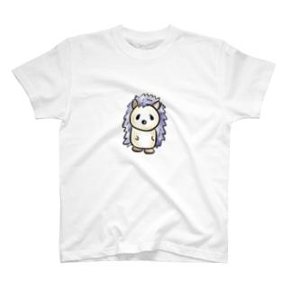 ハリネズミの白T T-shirts