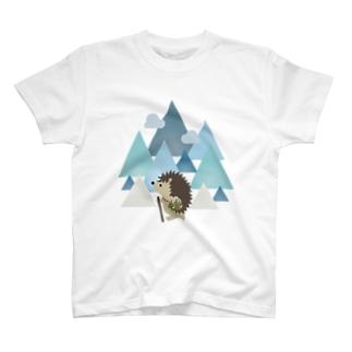 登山ハリネズミ(きのこポーチつき)昼 T-shirts