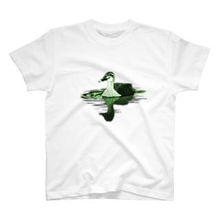 アキヅキのカルガモ(ライム) T-Shirt