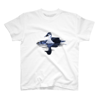 アキヅキのカルガモ(ブルー) T-shirts