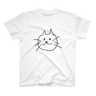 ねこのほほえみ T-shirts