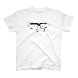 メガネのあぐらのかき方 T-shirts