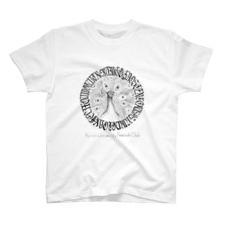 クジャク同好会エムブレム(ガチ) T-shirts