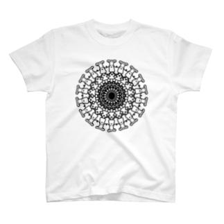 フラワーオブタノんぎしゃん(黒) T-shirts