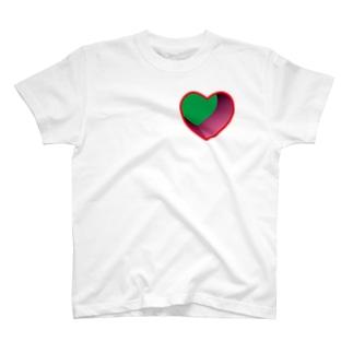 リモート会議でハートにズッキュン。穴が開いちゃうシャツ T-shirts