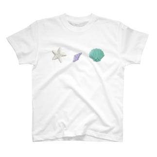 貝殻とヒトデのアイシングクッキー T-shirts