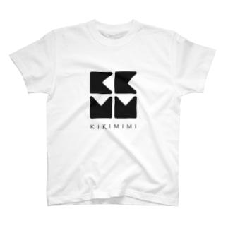 KIKIMIMIロゴTシャツ(ブラック) T-shirts