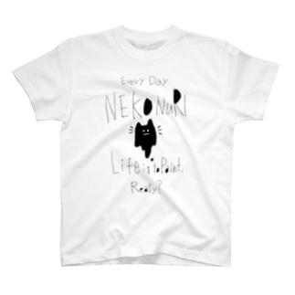ネコヌリT natural T-shirts