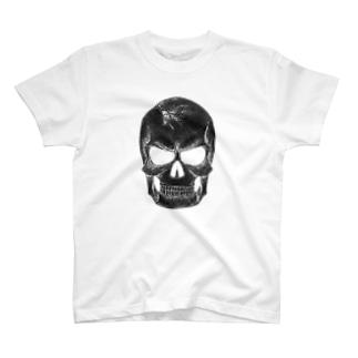 点スカル 黒 T-shirts