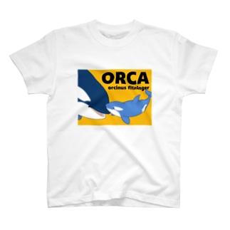 ベビーシャチA(橙) T-shirts