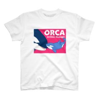 ベビーシャチA(桃) T-shirts