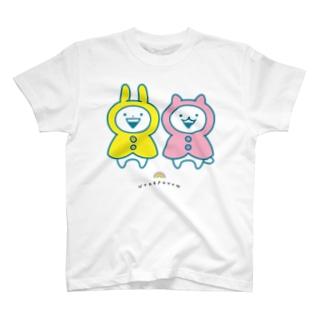うさぎゅーん!!!なかよしレインコート T-shirts