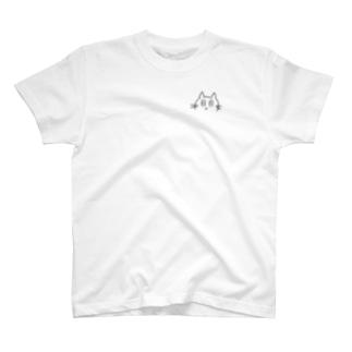らくがき猫(左胸) T-shirts