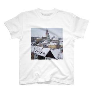 チェコ:チェスキー・クルムロフ城 Czech: Krumlov Castle T-shirts