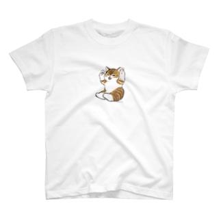 喜ぶ猫 T-shirts