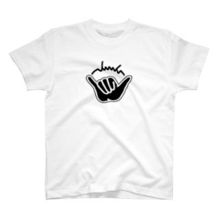 dacci シャカサイン(黒) T-shirts