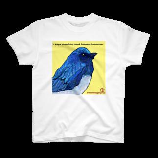 うーちゃぽこの幸せの青い鳥 T-shirts