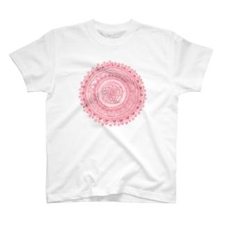 サークル・ピンク T-shirts