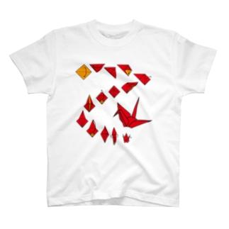 折り鶴 T-shirts