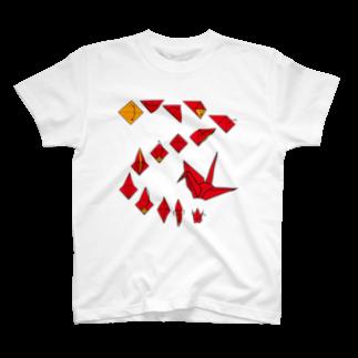 フォーヴァの折り鶴 T-shirts