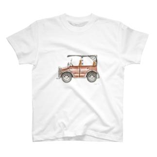 クラシックカー イラスト クラウン・ビートル T-shirts