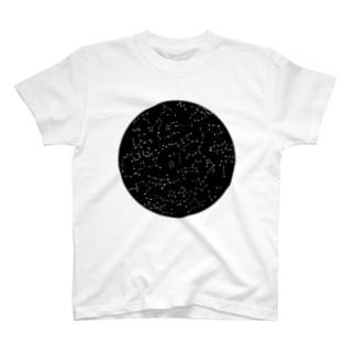 aki_ishibashiの宇宙の丸穴 T-shirts