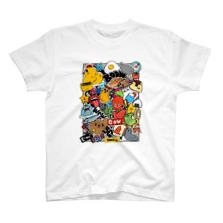 ステッカーボムアート T-shirts