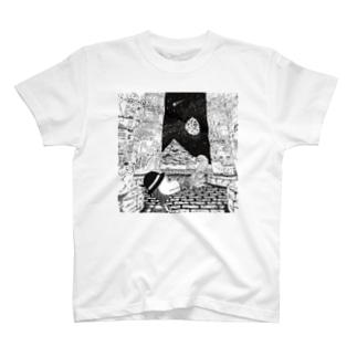 オリオンくんとスピノサウルスのツタンカーメン T-shirts