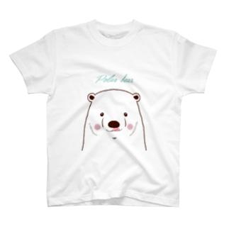 いたずら大好きシロクマさん(カスタム) T-shirts