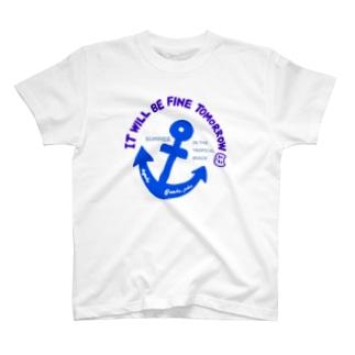 ぽこにゃんと海 T-shirts
