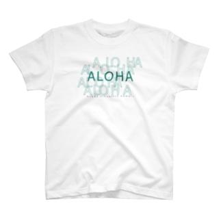 ALOHA Green 020 T-shirts