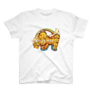 SPONGE MAP T-shirts