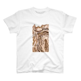 WAF Tシャツ 淺井裕介 湖の年輪 T-shirts