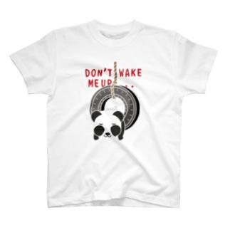 CT162 おこさないでねC*ズレぱんだちゃんのDON'T WAKE ME UP...*白フチなし T-shirts