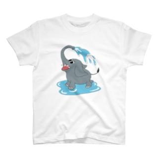 水浴びゾウさん T-Shirt