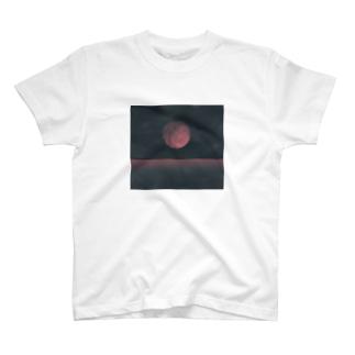 赤い月 T-Shirt