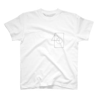 丸三角四角 T-shirts