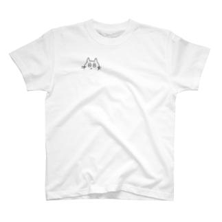 らくがき猫(右胸) T-shirts