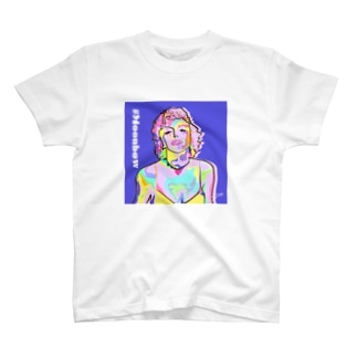 ALUの#03 Moonbow (White) T-shirts