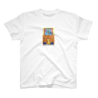 「クラシックを聴くネコ」 T-shirts