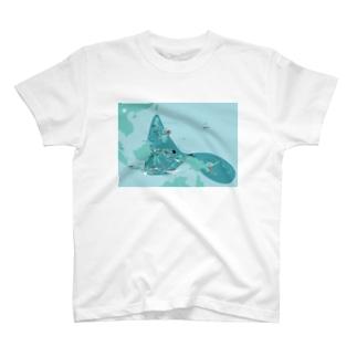 コーラルトライアングル ダイビングマップ T-shirts