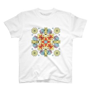 曼荼羅シリーズ トラ。 T-shirts