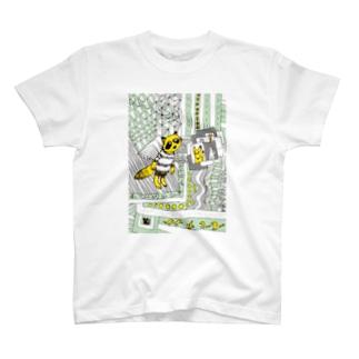 どうぶつの国 たぬき T-shirts