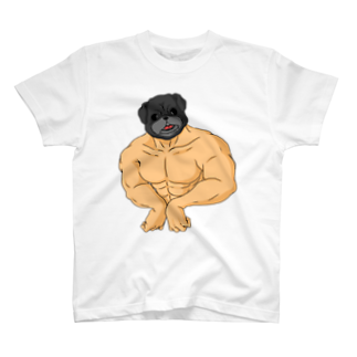 one-naacoのパグマッチョ(黒パグ) T-shirts