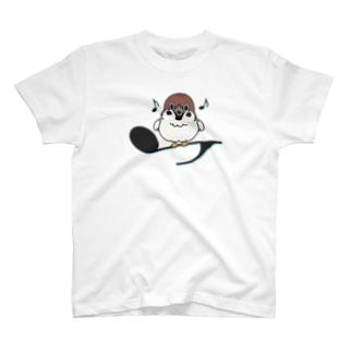 CT161 スズメがちゅんA*イラストサイズ大きいver* T-shirts