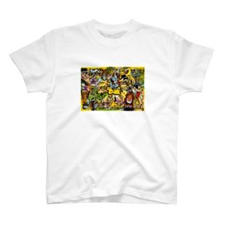 もりもりカートゥーン T-shirts