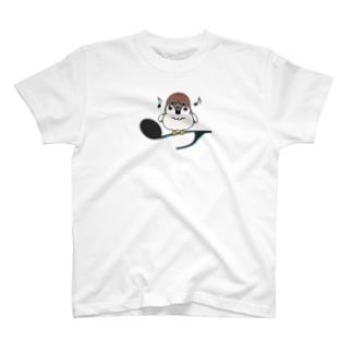 CT161 スズメがちゅんA*イラストサイズノーマルver. T-shirts